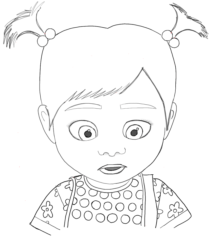 How To Draw Riley As A Baby From Inside Out With Easy Steps Tutorial