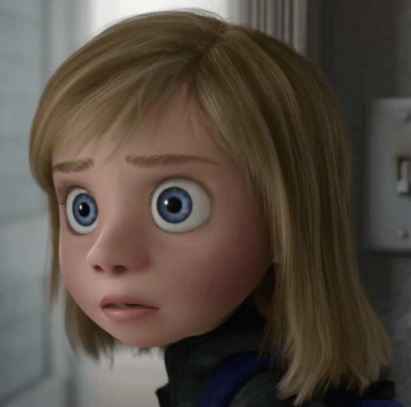 Color Picture of Riley from Inside Out