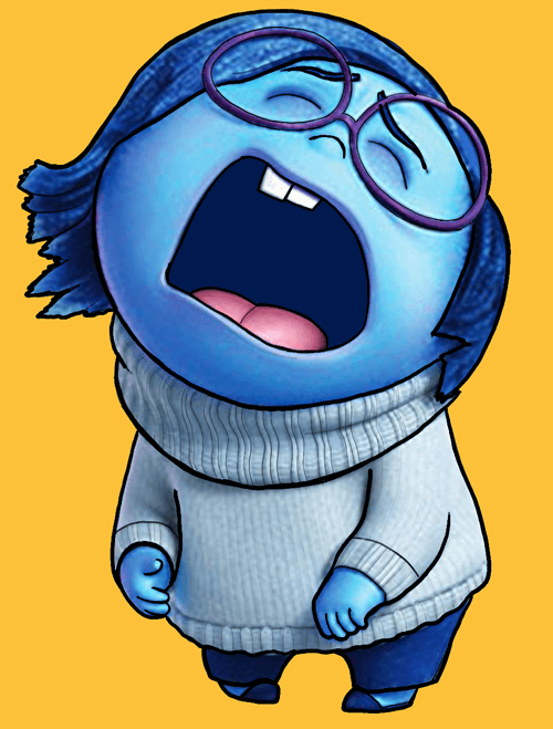 Finished Color Drawing of Sadness from Inside Out
