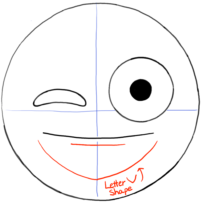 Line Drawing Emoji : How to draw emojis winking with tongue out face drawing