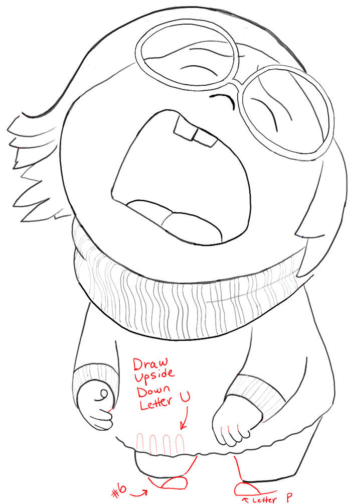 How To Draw Sadness From Inside Out With Easy Step By