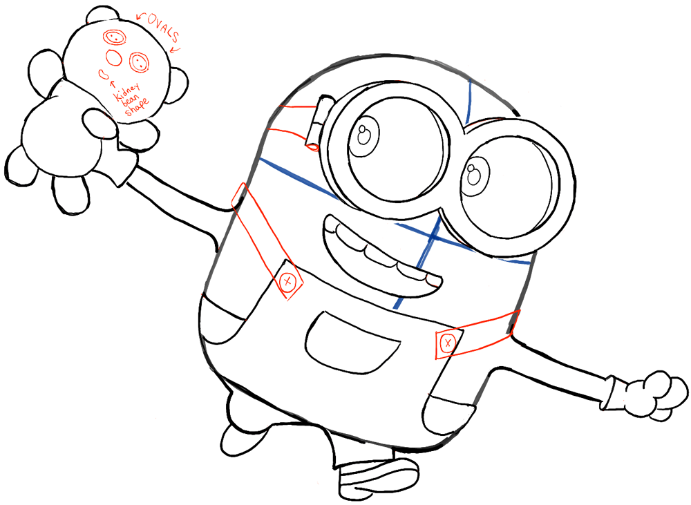 Drawing Bob Minions Movie on Line Dancing Step Sheets