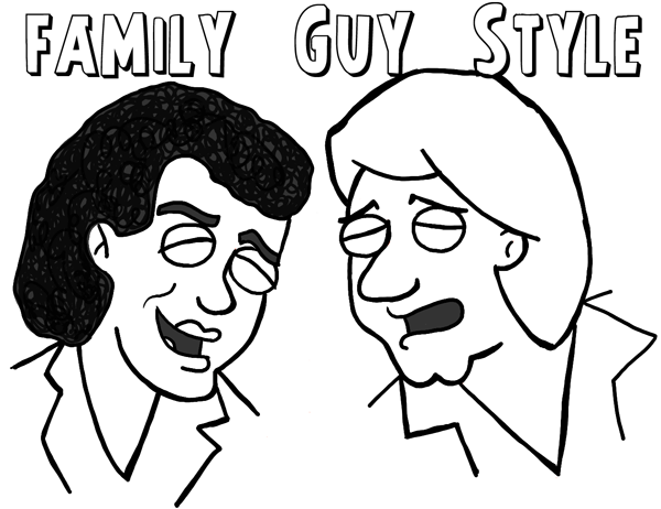 How to Draw Air Supply in Family Guy Illustration Style