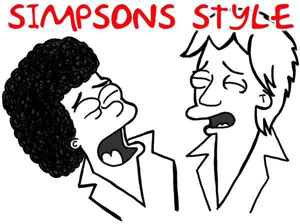 How to Draw Air Supply in Simpsons Illustration Style