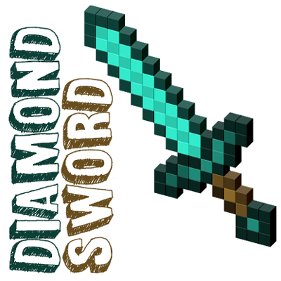 How to Draw Minecraft Swords - and Diamond Swords in Steps