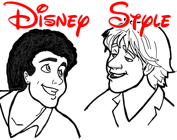 Line Art Illustration Style : How to draw men and males in many different cartoon styles air