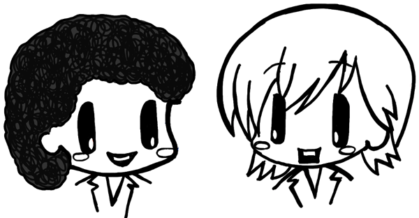 Finished Chibi Drawing of Air Supply - Russell and Graham