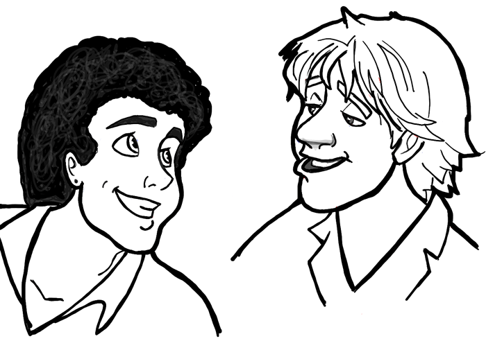 Finished Drawing of Disney-Style Air Supply