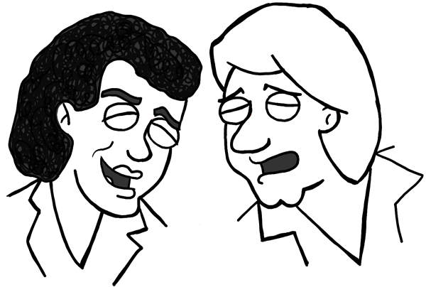 Finished Drawing of Air Supply as Family Guy Characters