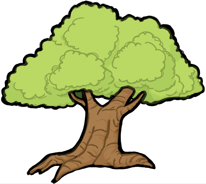finished drawing of a cartoon tree