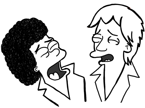 Finished Drawing of Air Supply as The Simpsons Characters