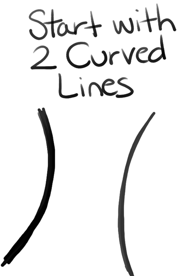 Step01 how to draw cartoon trees
