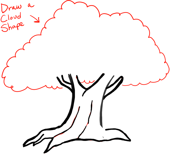 Step 5 step05 how to draw cartoon trees
