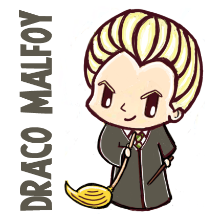 How to Draw Cute Chibi Draco Malfoy from Harry Potter Step by Step Drawing Tutorial