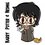 How to Draw Cute Chibi Harry Potter and Hedwig Characters - Easy Drawing Tutorial for Kids