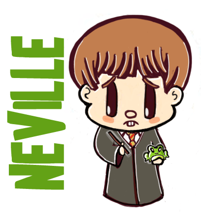How To Draw Cute Chibi Neville Longbottom With Frog From Harry