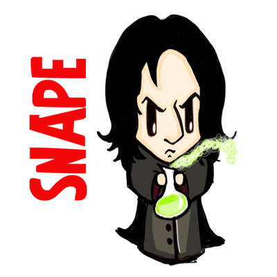 How To Draw Cute Chibi Severus Snape From Harry Potter In Easy Steps