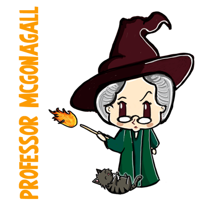 How to Draw Professor McGonagall