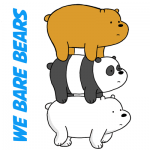 How to Draw Grizzly, Panda and Ice Bear from We Bare Bears Drawing Tutorial