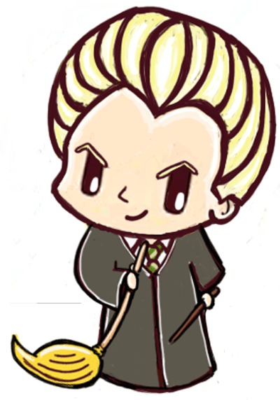Finished Drawing of Chibi Draco Malfoy