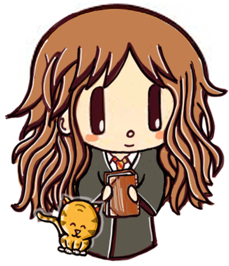 Finished Drawing of Cute Chibi Hermione Granger