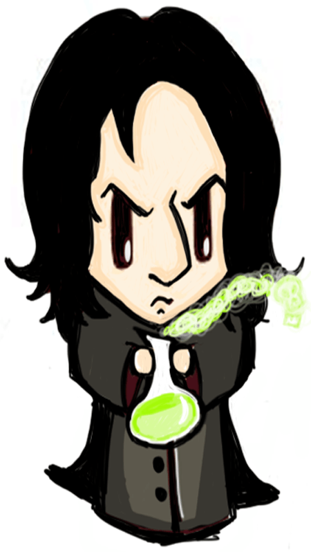 Finished Drawing of Cute Chibi Professor Snape
