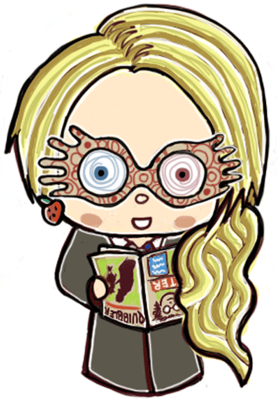 Finished Drawing of Cute Chibi Luna Lovegood