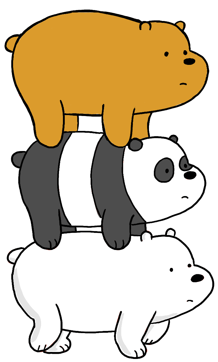Finished Drawing of We Bare Bears