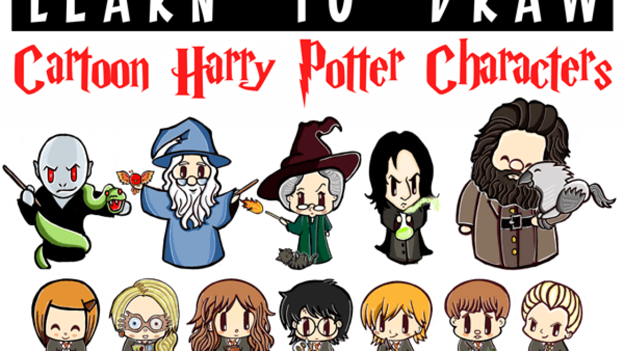 Huge Cartoon Harry Potter Characters Drawing Tutorial Guide How