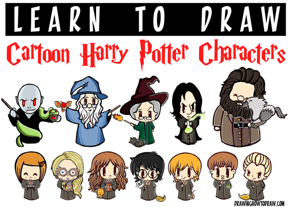 Harry potter characters archives how to draw step by for Learn to draw cartoons step by step lessons