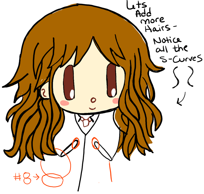 Strange How To Draw Cute Chibi Hermione Granger And Crookshanks With Easy Hairstyles For Women Draintrainus