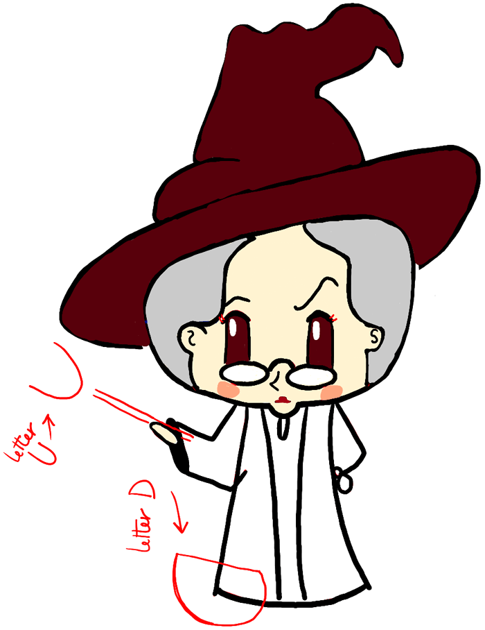 How to draw a cute chibi professor mcgonagall and cat from for How to draw easy stuff but cute