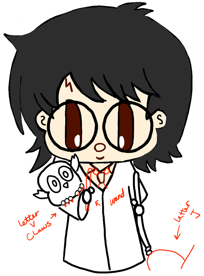 step09-how-to-draw-cute-chibi-harry-potter-owl-hedwig