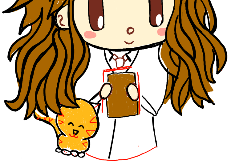 step09-how-to-draw-cute-chibi-hermione-Crookshanks