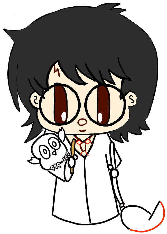 step10-how-to-draw-cute-chibi-harry-potter-owl-hedwig