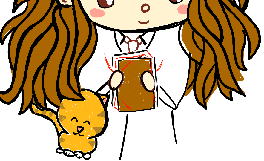 step10-how-to-draw-cute-chibi-hermione-Crookshanks