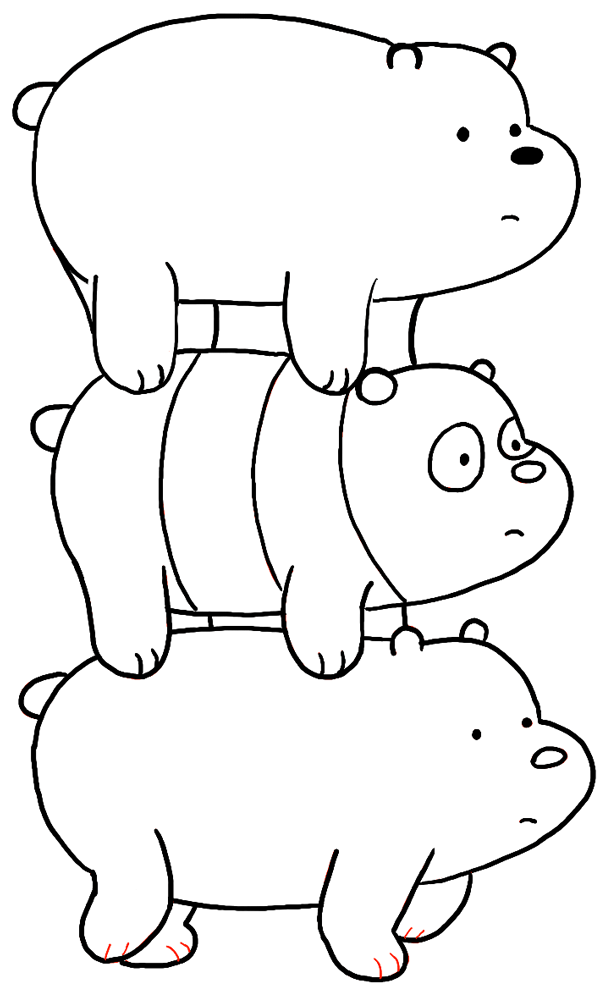 We bear bears free coloring pages for Free bear coloring pages