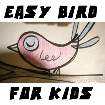 How To Draw Cartoon Birds Easy Drawing Tutorial For Kids How To
