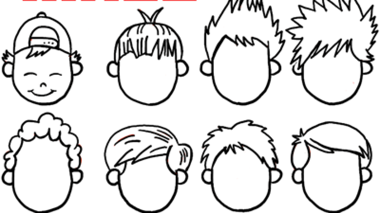 How To Draw Boys And Mens Hair Styles For Cartoon Characters Drawing Tutorial How To Draw Step By Step Drawing Tutorials