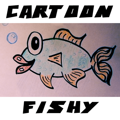 How to Draw Cute Cartoon Fish with Easy Steps Tutorial