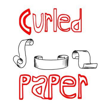 How to Draw Paper Curls or Curled Paper Scrolls in Simple Step by Step Drawing Tutorial