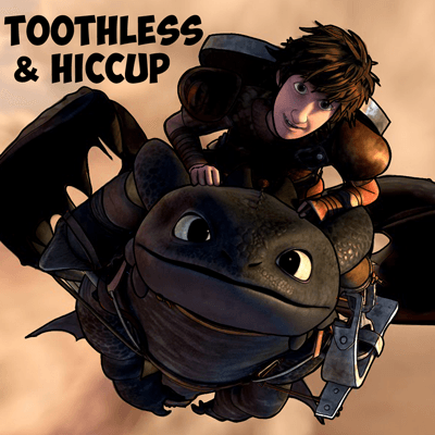 How to Draw Hiccup and Toothless from How to Train Your Dragon and Dragons Race to the Edge