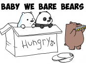 How to Draw Baby We Bare Bears Character in Simple Step by Step Drawing Lesson