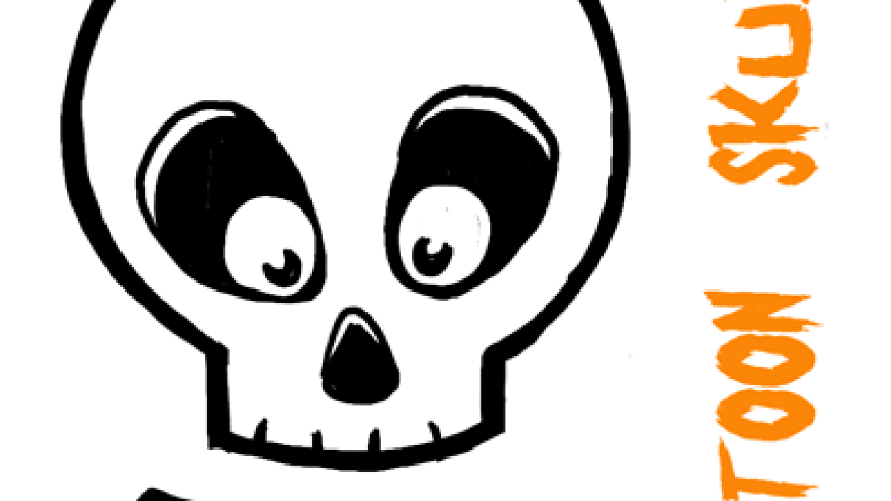 How To Draw Silly Cartoon Skulls For Halloween Easy Tutorial For