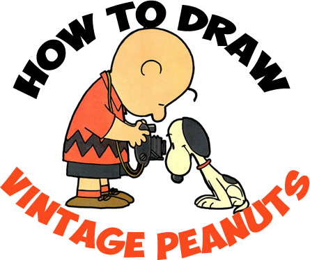 How to Draw Snoopy and Charlie Brown from Peanuts in Vintage Style - Step by Step Tutorial