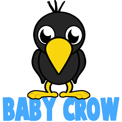 Easy How To Draw A Crow Steps For Kids