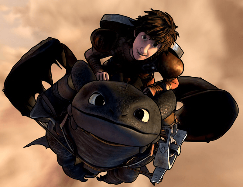How to Draw Hiccup and Toothless from How to Train Your