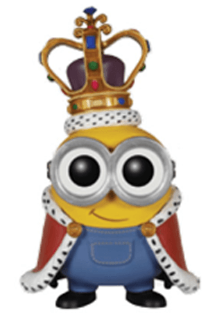 Finished Drawing of King Bob from The Minions Movie
