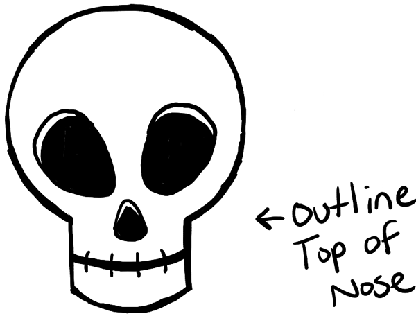 How to Draw Silly Cartoon Skulls for Halloween Easy ...