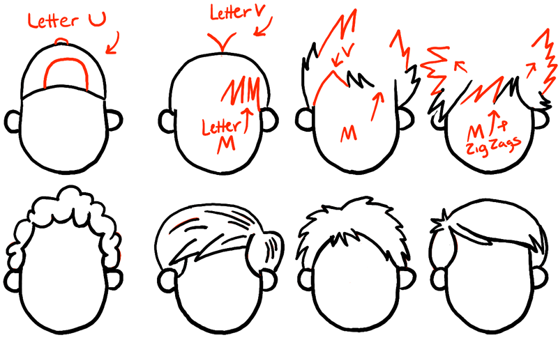 step08-howtodraw-boys-hair